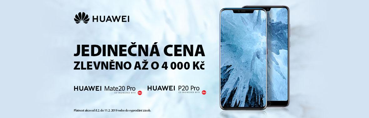 Telefony Huawei Mate20 Pro a P20 Pro zlevněny až o 4 000! POUZE 8.-11.2.2019