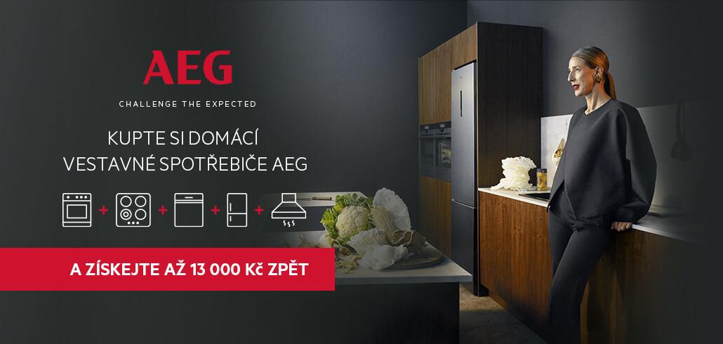 AEG Cashback - získejte až 7 500 Kč z nákupu ZPĚT