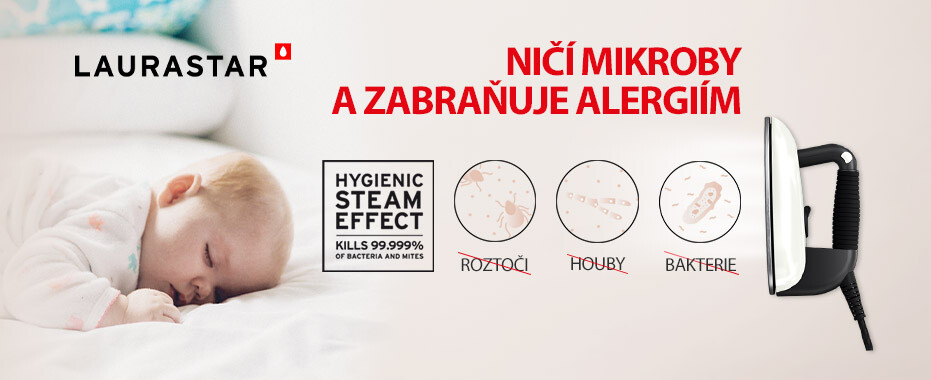 HYGIENIC STEAM - zničí až 99,9 % virů