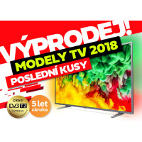 Poslední šance! Výprodej TV modelové řady 2018