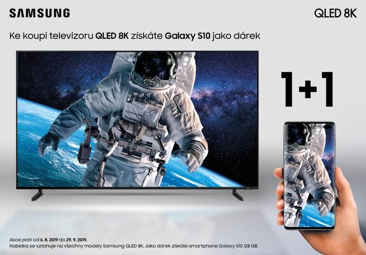 K nákupu televizoru Samsung získáte Galaxy S10