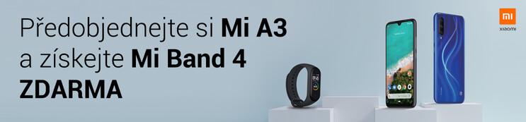 Předobjednejte si Mi A3 a získejte Mi Band 4 ZDARMA!
