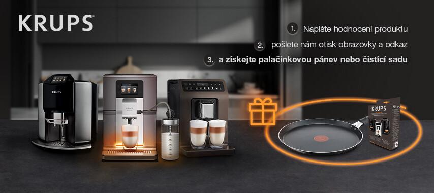Získej dárek za recenzi kávovaru Krups