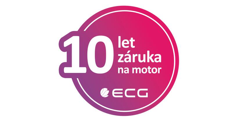 K vybraným produktům ECG 10 let záruka na motor či kompresor