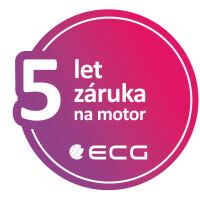K vybraným produktům ECG 5 let záruka na motor či kompresor
